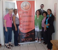 Marie with the WE CAN Women. Look closely at this group.
